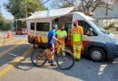 Ciclistas recebem orientação sobre segurança no Sistema Castello-Raposo